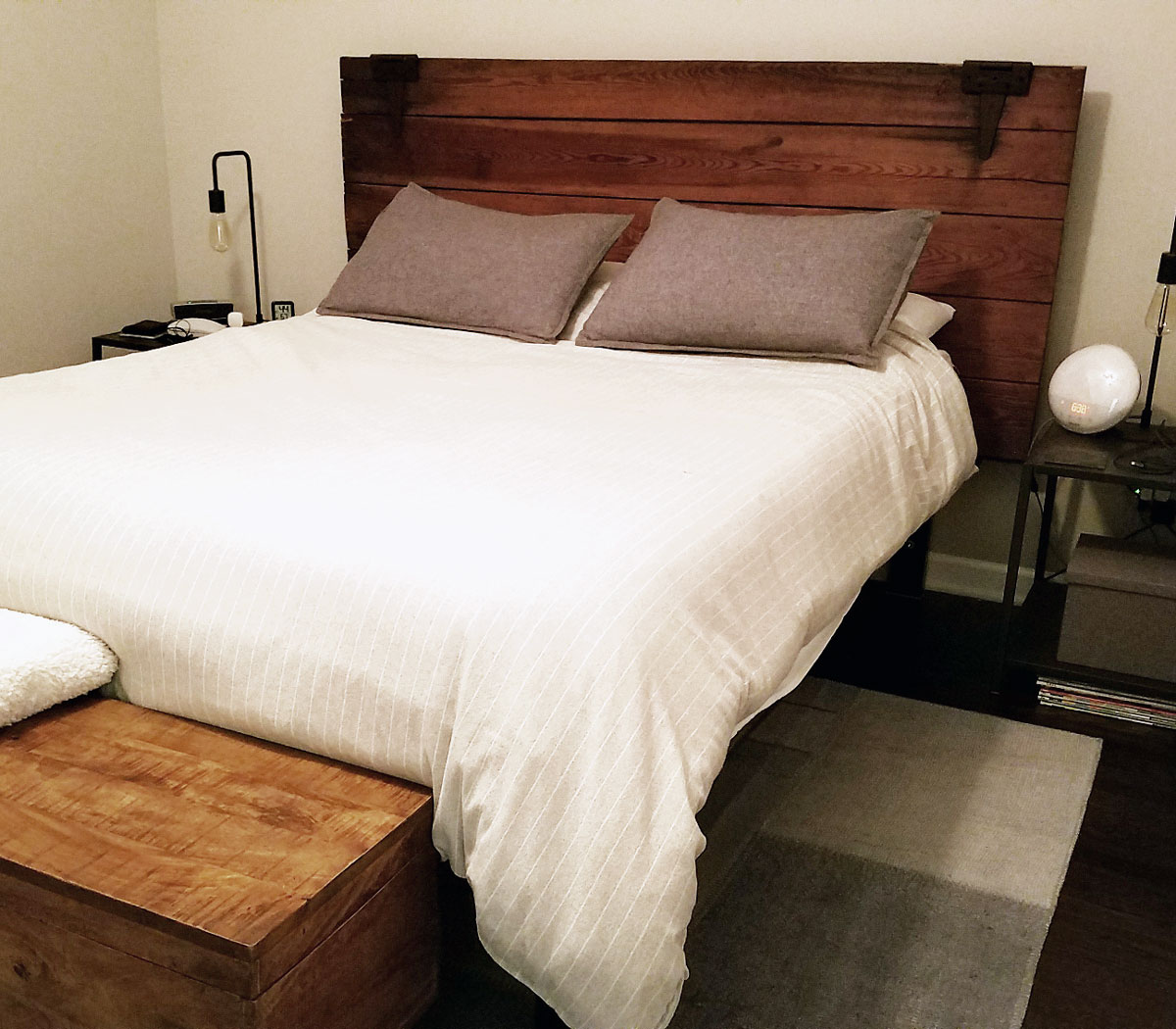 DIY Project: Barn Door to Headboard By Bumble and Bustle